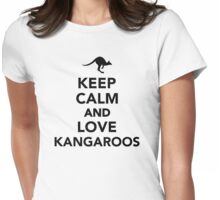 Keep calm and love Kangaroos Womens Fitted T-Shirt