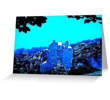 Neidpath Castle, Peebles(digitally enhanced photograph) Greeting Card