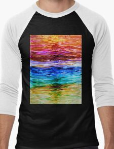 Watery Sunset Men's Baseball ¾ T-Shirt
