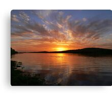 Ballyshannon Estury Sunset Canvas Print
