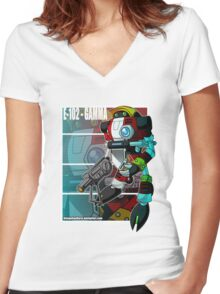 E-102-Gamma Women's Fitted V-Neck T-Shirt