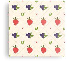 berry pattern Metal Print