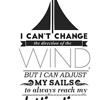 Sails Typographic Quote by Shane Richardson