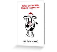 Christmas Bull! Greeting Card