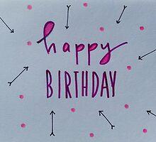 happy birthday. purple + arrows by KellyvanEs