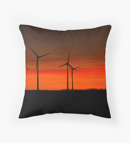 Red, orange & green Throw Pillow