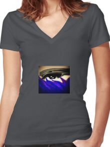 Storm of the eye, distorted vision Women's Fitted V-Neck T-Shirt