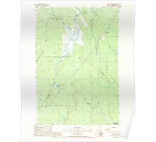 Maine USGS Historical Map Reed Pond 102914 1988 24000 Poster