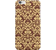 Vector damask seamless pattern background. Elegant luxury texture for wallpapers, backgrounds and page fill iPhone Case/Skin
