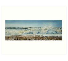 Seaford Surf, And the Shipping News is................. Art Print