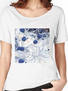 White Blue rose Women's Relaxed Fit T-Shirt