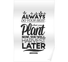 Plant Now Harvest Later Poster
