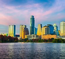 Colorful Austin Skyline by Tod and Cynthia Grubbs