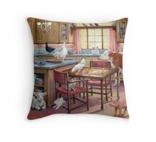 The Occupation of the Kitchen Throw Pillow