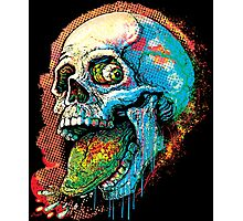 Pbbbt One eyed Skull Splatters Juicy Raspberry Photographic Print