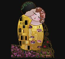 Kokeshi The kiss of Klimt Womens Fitted T-Shirt