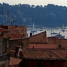 Villefranche Rooftops by Tom Gomez