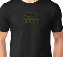 Ferrari Mustang Parody - Black / Yellow Unisex T-Shirt