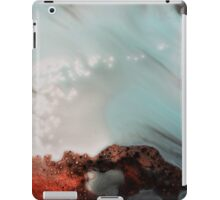 Red Blue Abstract Print iPad Case/Skin