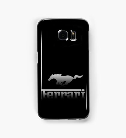 Ferrari Mustang Parody - Black Chrome Samsung Galaxy Case/Skin