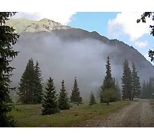 Foggy Morning in the Rockies Photographic Print