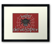 Eight-legged web developer Framed Print