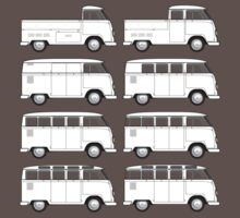 VW Type 2 Split Window Line Up T-Shirt