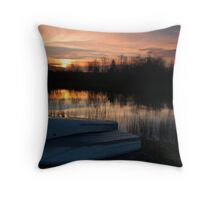 Lake at Sunset II Throw Pillow