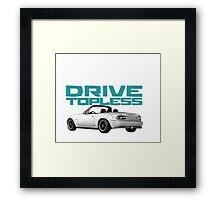 Drive Topless Framed Print
