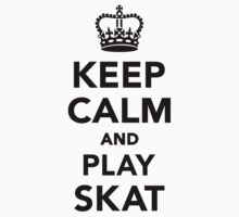 Keep calm and play skat  Kids Clothes