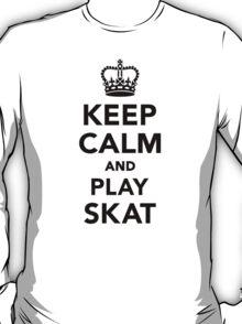 Keep calm and play skat  T-Shirt