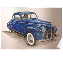 watercolour-1940 Olds Poster