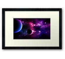 Best Galaxy background. Cosmic. Framed Print