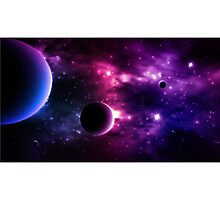 Best Galaxy background. Cosmic. Photographic Print