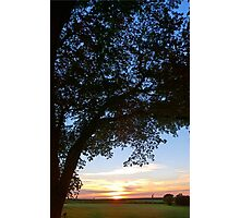 Sunset Across the Field Photographic Print