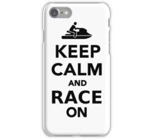 Keep calm and race on iPhone Case/Skin