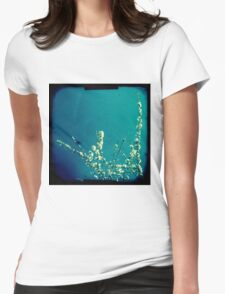 Blossom on blue Womens Fitted T-Shirt