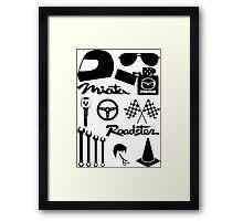 Miata Roadster Originals Framed Print