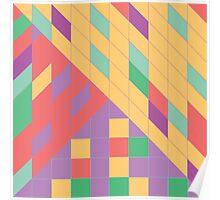 Geometric Slant Poster