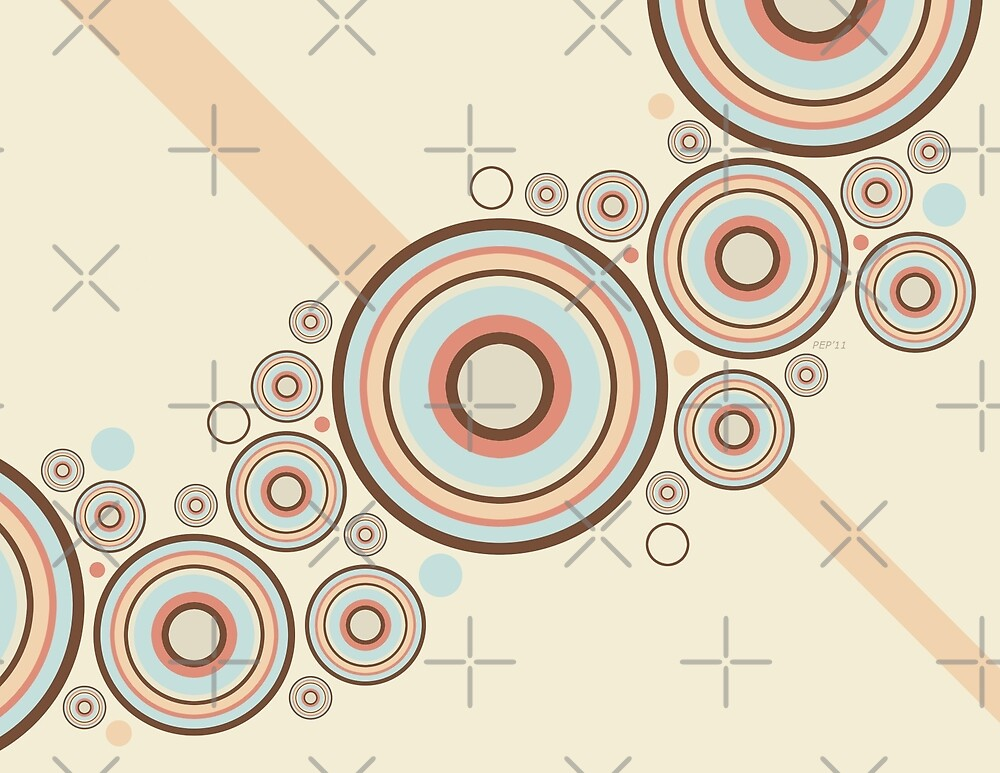 Colorful Graphic Rings by Phil Perkins