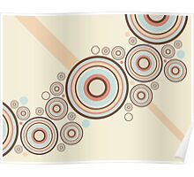 Colorful Graphic Rings Poster