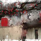 Red Door  by bev langby