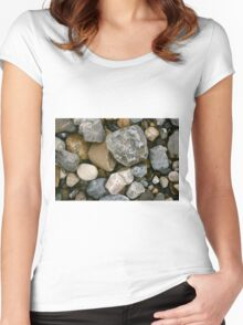 Rocks and Stones in Donegal Women's Fitted Scoop T-Shirt