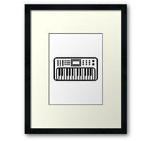 Keyboard piano Instrument Framed Print