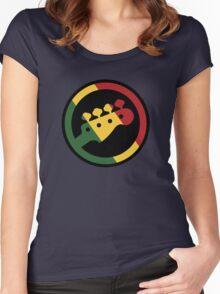 Rasta bass  Women's Fitted Scoop T-Shirt