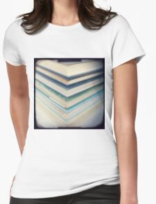 Blue chevrons Womens Fitted T-Shirt