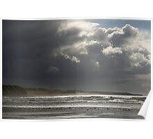 Dramatic Beach Sky in Ireland Poster