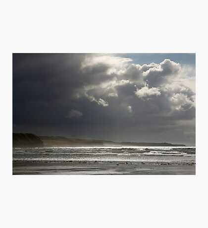 Dramatic Beach Sky in Ireland Photographic Print