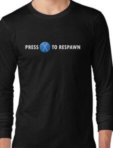 Press X to Respawn (White) Long Sleeve T-Shirt