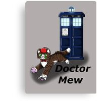 Doctor Mew Canvas Print
